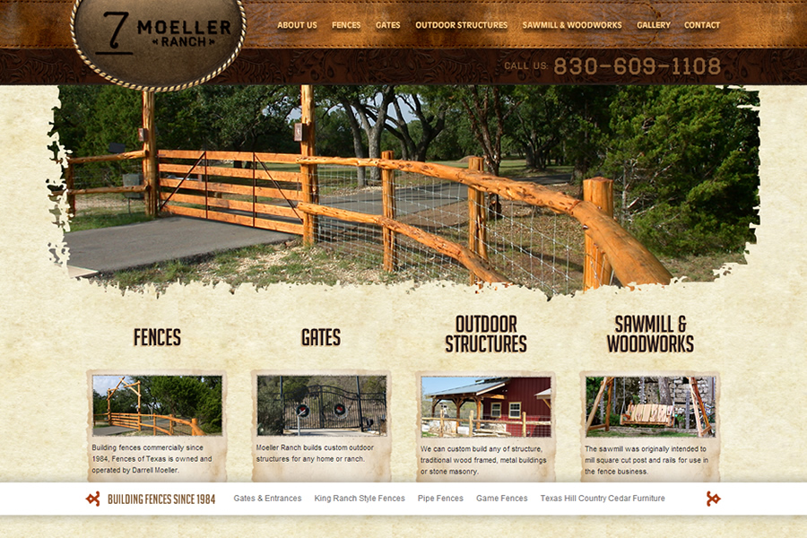 Photo Moeller Ranch Website Design