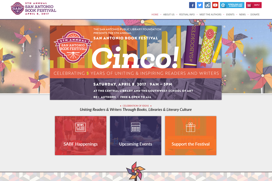 Photo San Antonio Book Festival Website Design