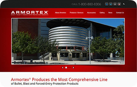Armortex<sup>&reg;</sup> Website Design