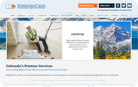 EmergiCare Website Design