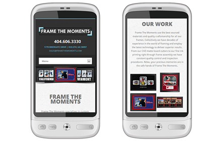 Frame The Moments Website Design