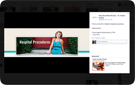 Nasha Reddy MD Obstetrics & Gynecology - Facebook - San Antonio Website Design & Development