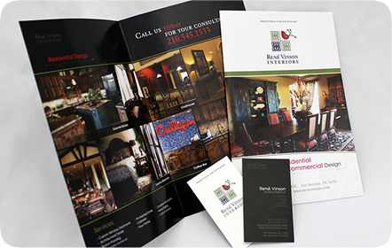 René Vinson Interiors Graphic Design San Antonio