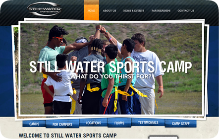 Still Water Sports Camp Website Design - Bronze Addy Winner