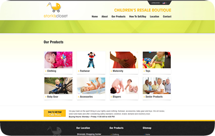 Stork's Closet Website Design