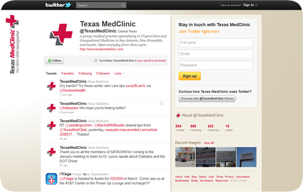 Texas MedClinic - Facebook - San Antonio Website Design & Development
