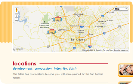 The Pillars Christian Learning Center - San Antonio Website Design & Development
