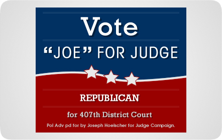 Judge Joe Hoelscher - Banner Ad - San Antonio Website Design & Development